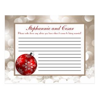 Writable Advice Card Winter Blur Post Card