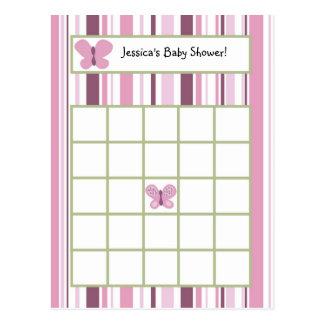Writable Bingo Card Sugar Plum Butterfly