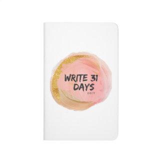 write 31 days journal