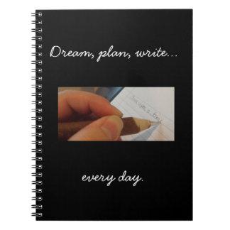 Write Every Day Blank Notebook, black Notebooks