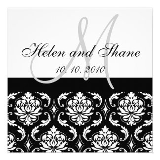 Write Guest s Name on Damask Wedding invitation