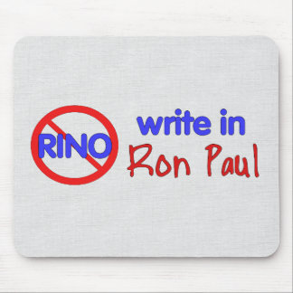WRITE IN RON PAUL MOUSE PAD