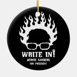 Write in! round ceramic decoration