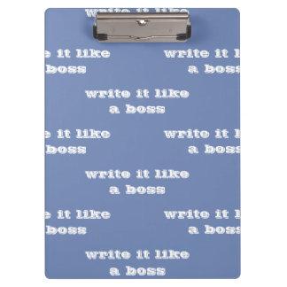 write it like a boss clipboard