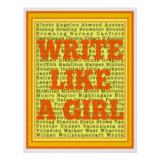 Write Like a Girl Citrus Print