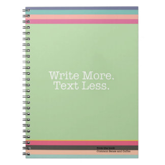 Write More Text Less Notebook
