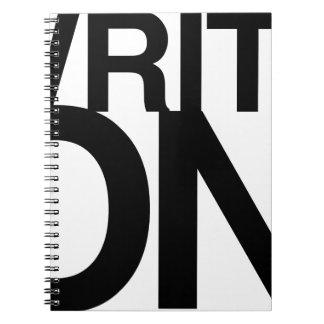 """Write On"" Idea Notebook Big Type"