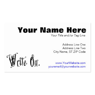 Write On (Ver 2) Business Card