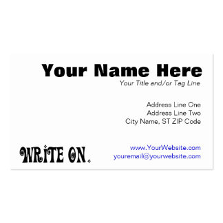 Write On (Ver 3) Business Card