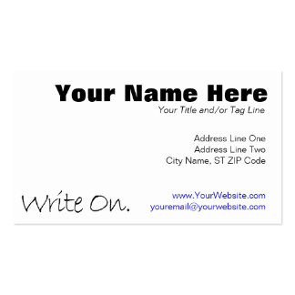 Write On (Ver 4) Business Card