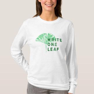 Write One Leaf Merch   Gingko T-Shirt