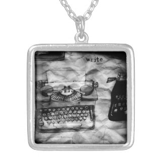 Write typewriter necklace