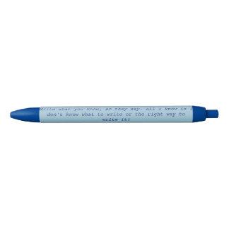 Write What You Know Newsies Pen