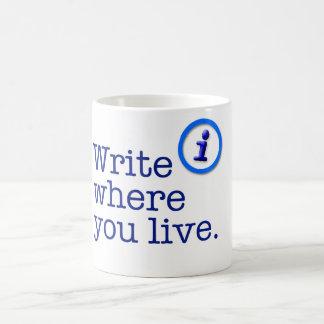 Write Where You Live Mug