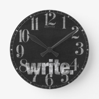 Write: Writer, Freelance Writer, Author Wall Clock