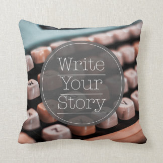 Write Your Story Throw Cushions