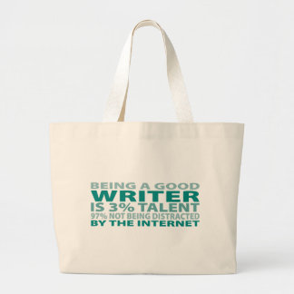 Writer 3% Talent Tote Bag