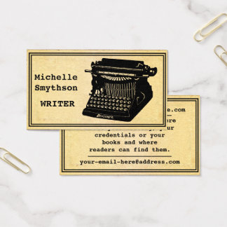 Writer Antique Typewriter Business Card