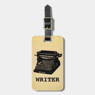 Writer Antique Typewriter Luggage Tag
