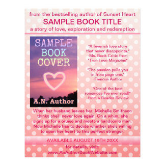 Writer Author Book Promotion Pink White Polka Dot 21.5 Cm X 28 Cm Flyer