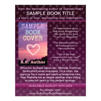 Writer Author Book Promotion Purple Polka Dot 21.5 Cm X 28 Cm Flyer
