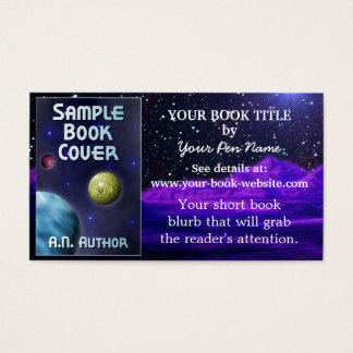Writer Author Book Promotion Space Science-Fiction