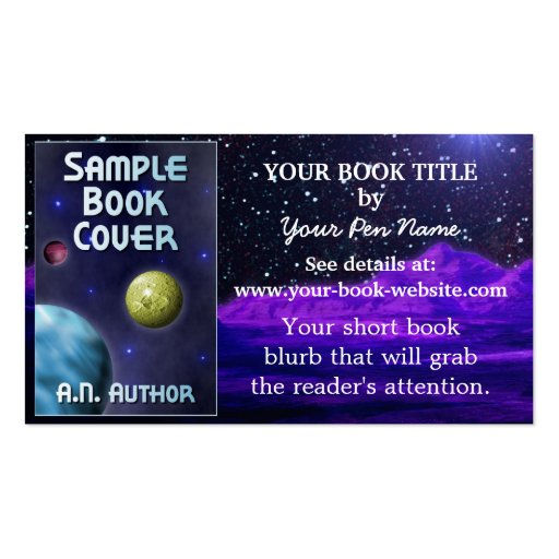 Writer Author Book Promotion Space Science-Fiction Business Card Template