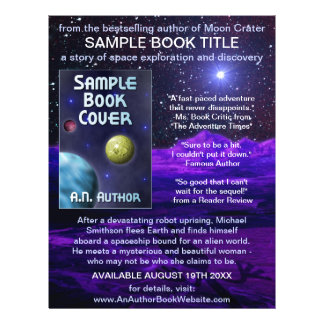 Writer Author Book Promotion Space Science-Fiction Flyers