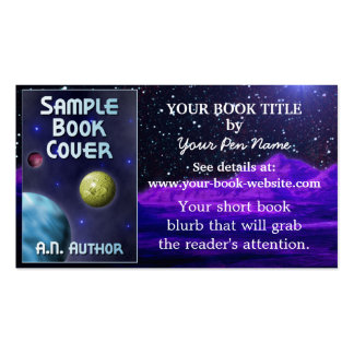 Writer Author Book Promotion Space Science-Fiction Pack Of Standard Business Cards