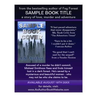 Writer Author Promotion Book Cover Blue Purple 21.5 Cm X 28 Cm Flyer