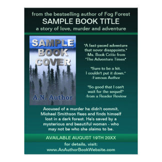 Writer Author Promotion Book Cover Green Black Flyer Design