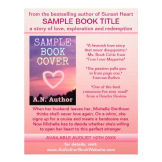 Writer Author Promotion Book Cover Pink White 21.5 Cm X 28 Cm Flyer