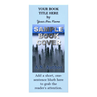 Writer Author Promotion Marketing Book Cover Rack Card Template
