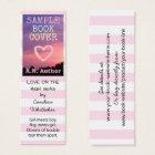 Writer Author Romance Promotion Bookmark Stripes Mini Business Card
