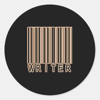 Writer Barcode Round Stickers