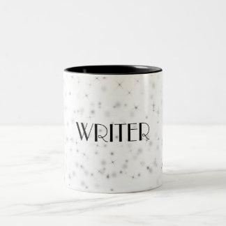 Writer ~ Black Sparkly Two-Tone Coffee Mug