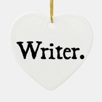 Writer Ceramic Ornament