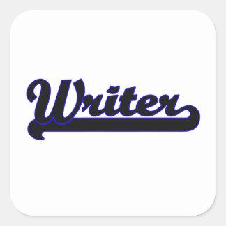Writer Classic Job Design Square Sticker
