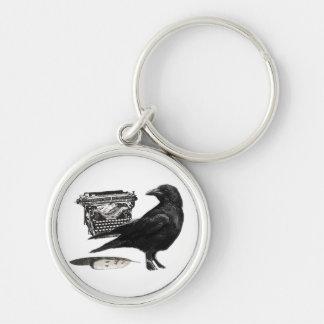 Writer Crow keychain