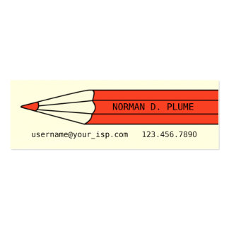 Writer Editor Pencil Business Card Template