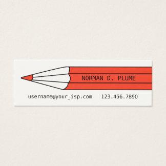 Writer Editor Pencil Business Card Template