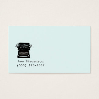 Writer , Editor, Vintage Typewriter Business Card