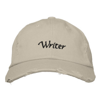 Writer Embroidered Hat