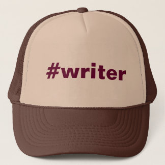 #writer (hat) trucker hat
