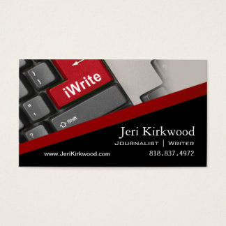 Writer Journalist Author Reporter Novelist Business Card