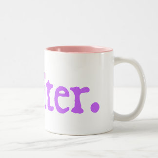 Writer (lavender lettering) Two-Tone coffee mug