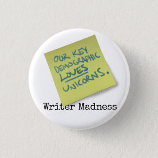 """Writer Madness"" Movie Round Button"