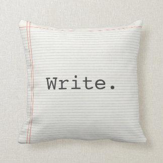 Writer pillow, write, notebook paper, typewriter cushion