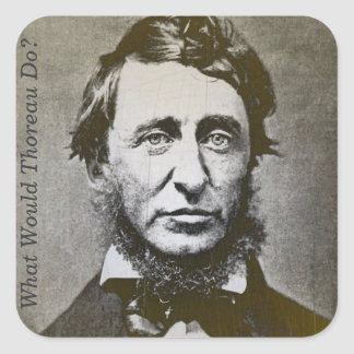 Writer Portrait: What Would Thoreau Do? Square Sticker
