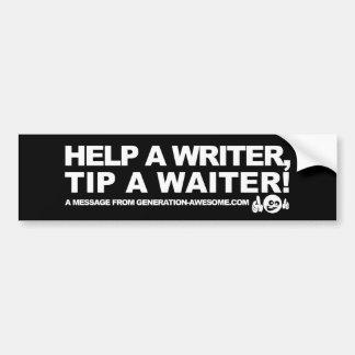 Writer PSA Bumper Sticker